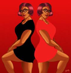 Veronika Black Dress Red Dress by PaulSizer