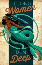 STRONG WOMEN RUN DEEP Poster by PaulSizer