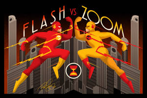 Flash Vs Zoom Deco Poster