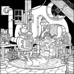 Reading Nook 2020 Coloring Page