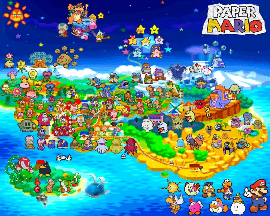 Top Super Mario World Map Wallpapers