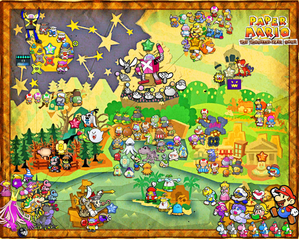 Paper Mario The Thousand Year Door Map Images   Pictures   Becuo Vqf8SSBt
