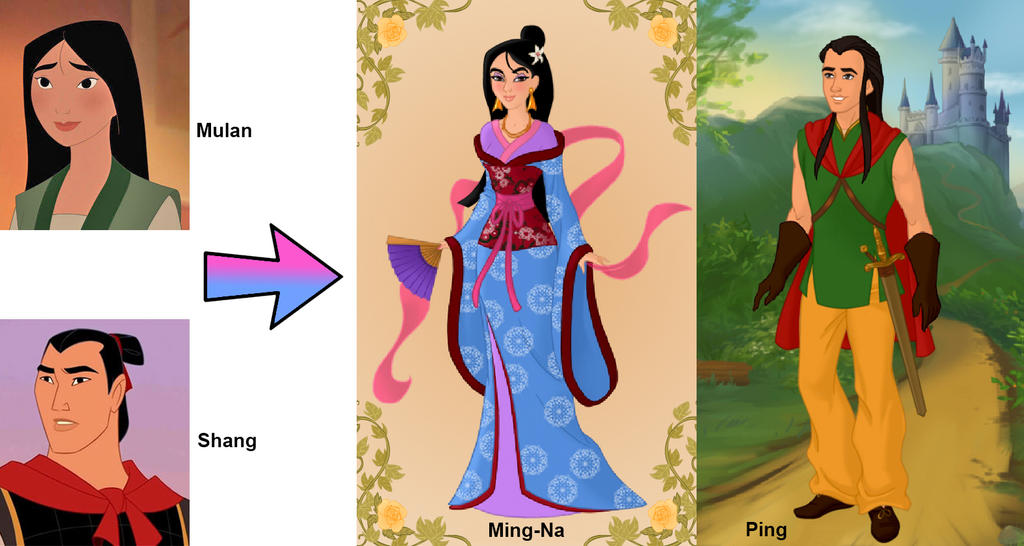 The gallery for --> Disney Mulan And Shang Family