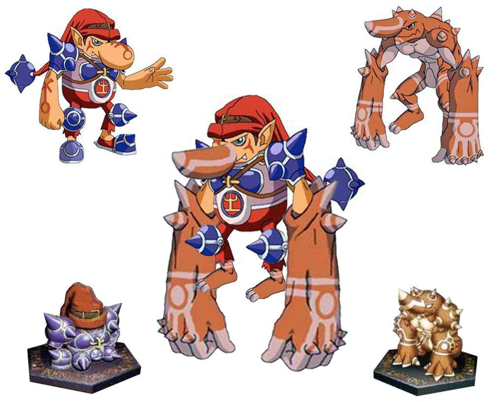 Digimon Frontier Rhinokabuterimon RhinoGolemon
