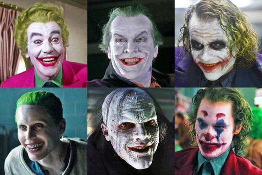 Jokers Through The Years by SilverBuller