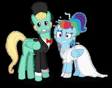 Rainbow Dash x Zephyr Breeze Wedding - Vectors