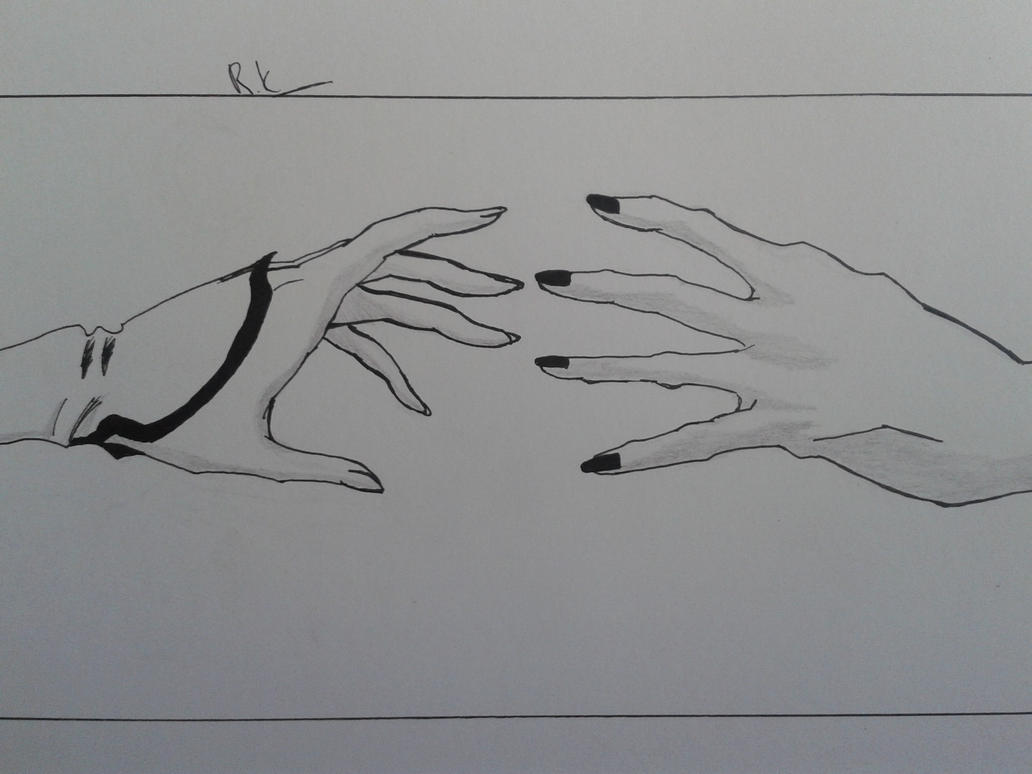 how to draw a hand reaching out