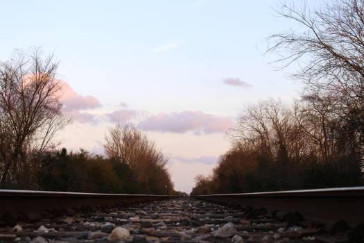 peaceful train tracks