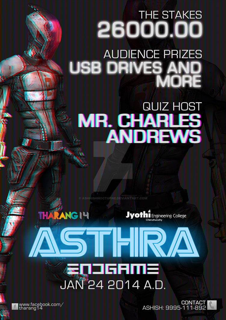 ASTHRA' Quiz Competition Poster by ashhishnocturne on DeviantArt