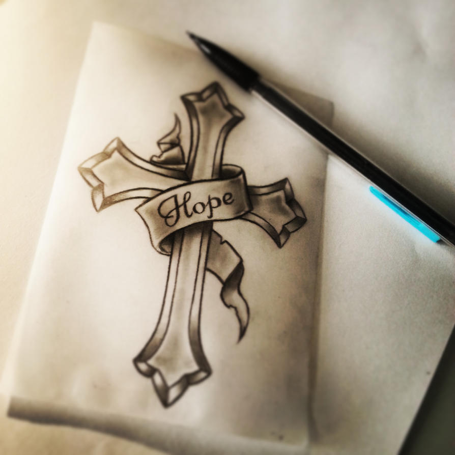 Hope Cross Tattoo Design. By Searwen On DeviantArt