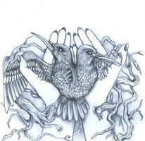 Conjoined birds.