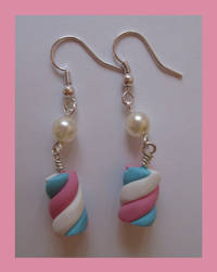 Marshmallow earrings by CandyCorrn