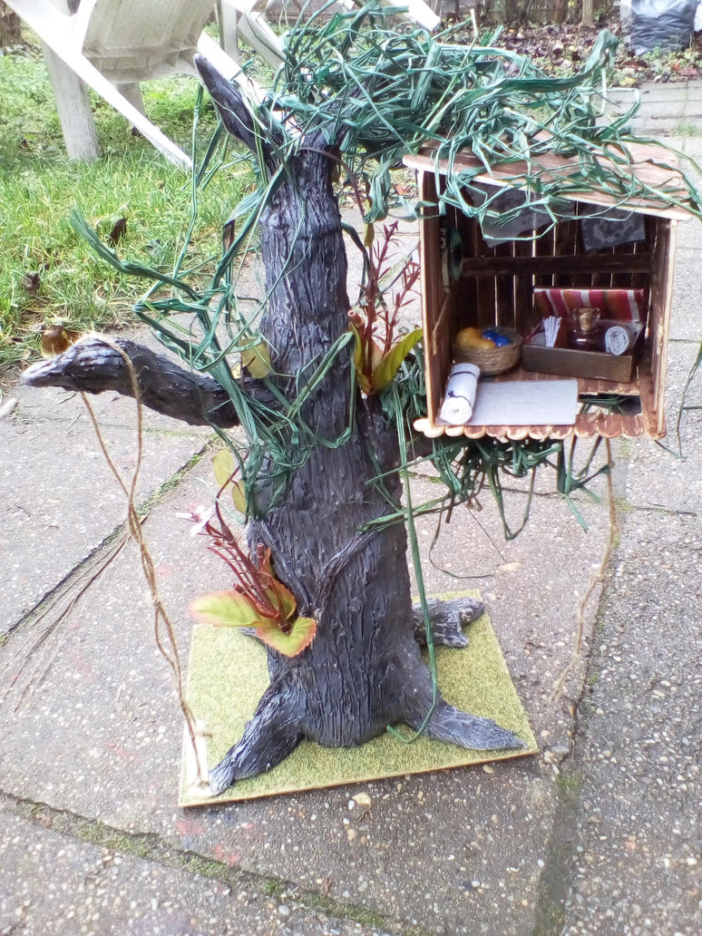 Tree with small house by TamaraFaith