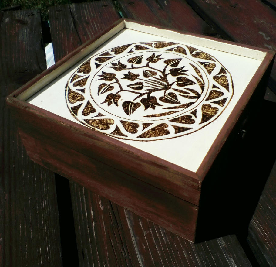 Pyrography box by TamaraFaith