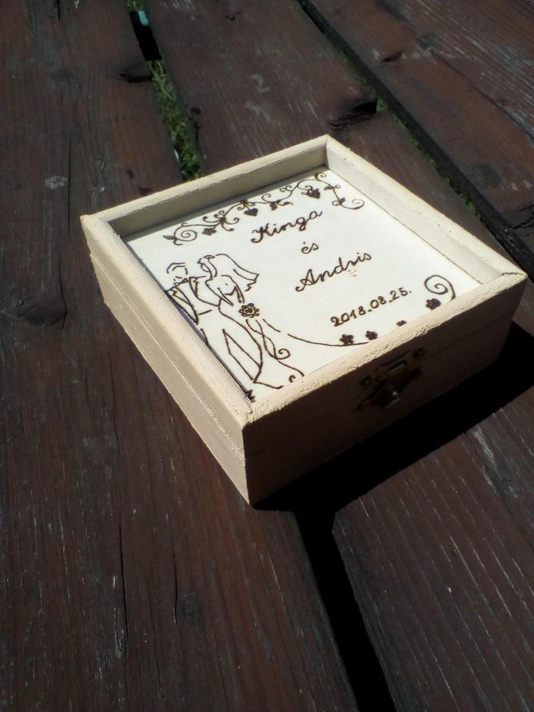Pyrography box for wedding by TamaraFaith
