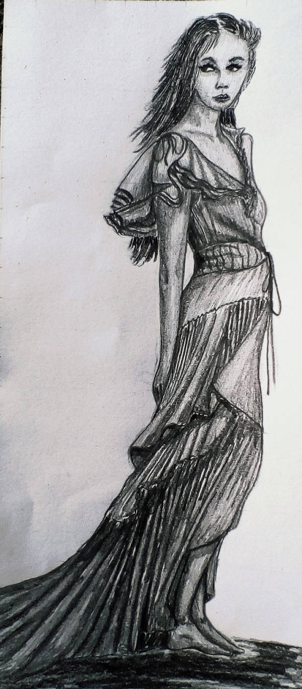Character from my novel with pencil