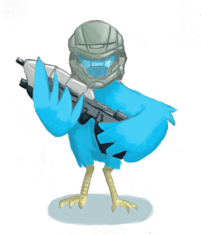 405th Twitter Bird by AzureProps