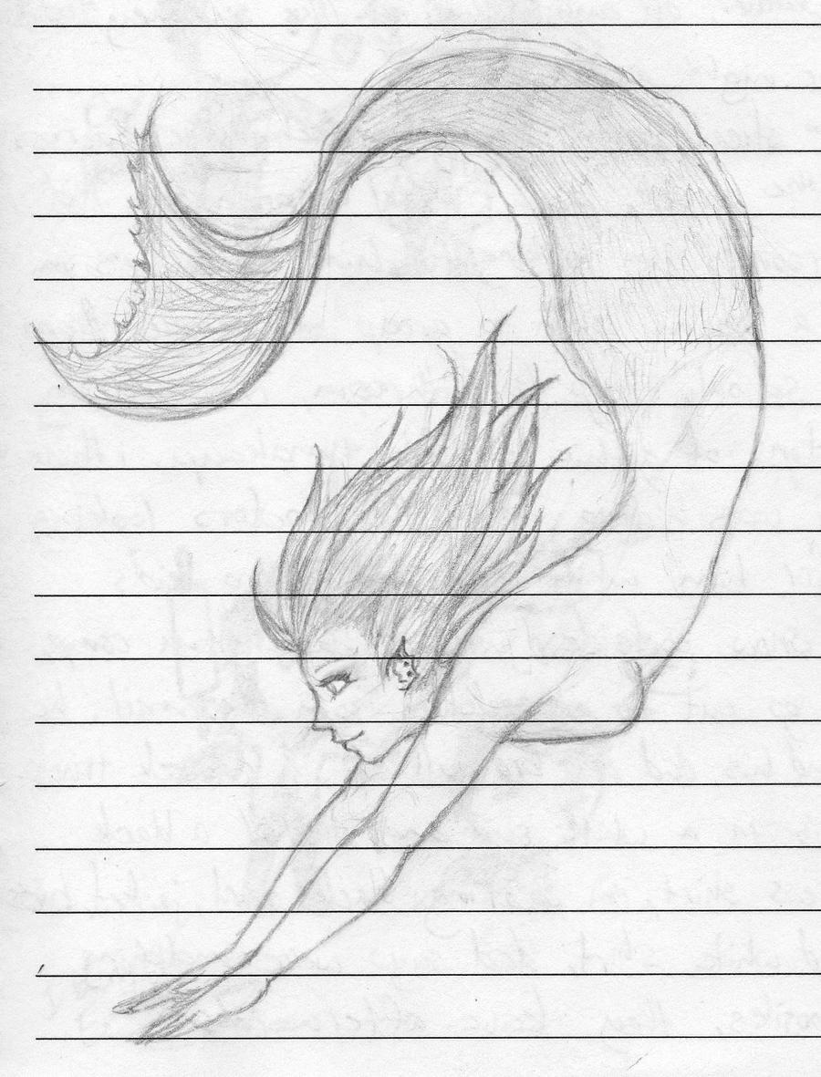 Mermaid Swimming Drawings Drawings of Mermaids