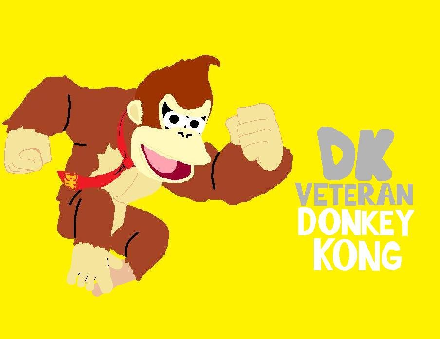 super smash bros 3dswii u veteran donkey kong by djhaxx