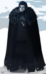 Jon in the snow by Dynamaito