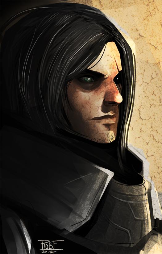 Portrait of a warrior by Dynamaito