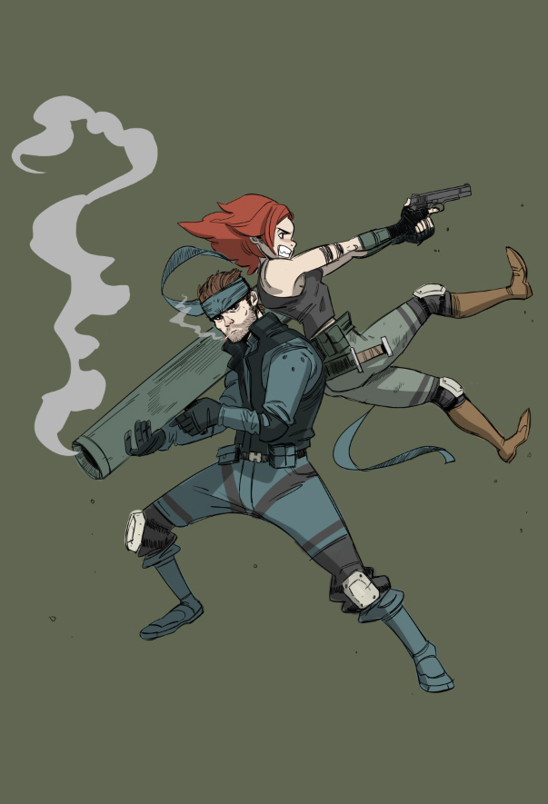 Snake and Meryl by Dynamaito