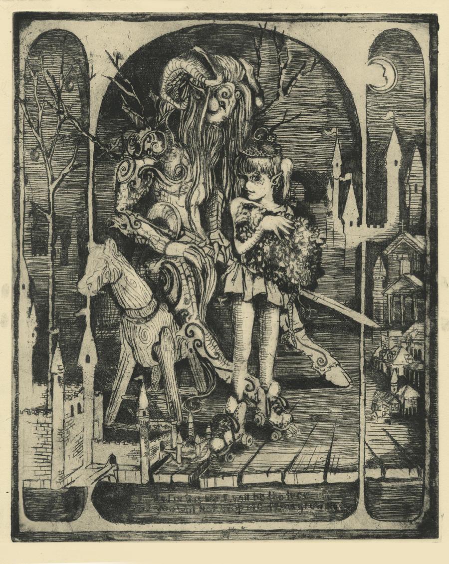 Pan's Labyrinth Intaglio Print by DustinPanzino
