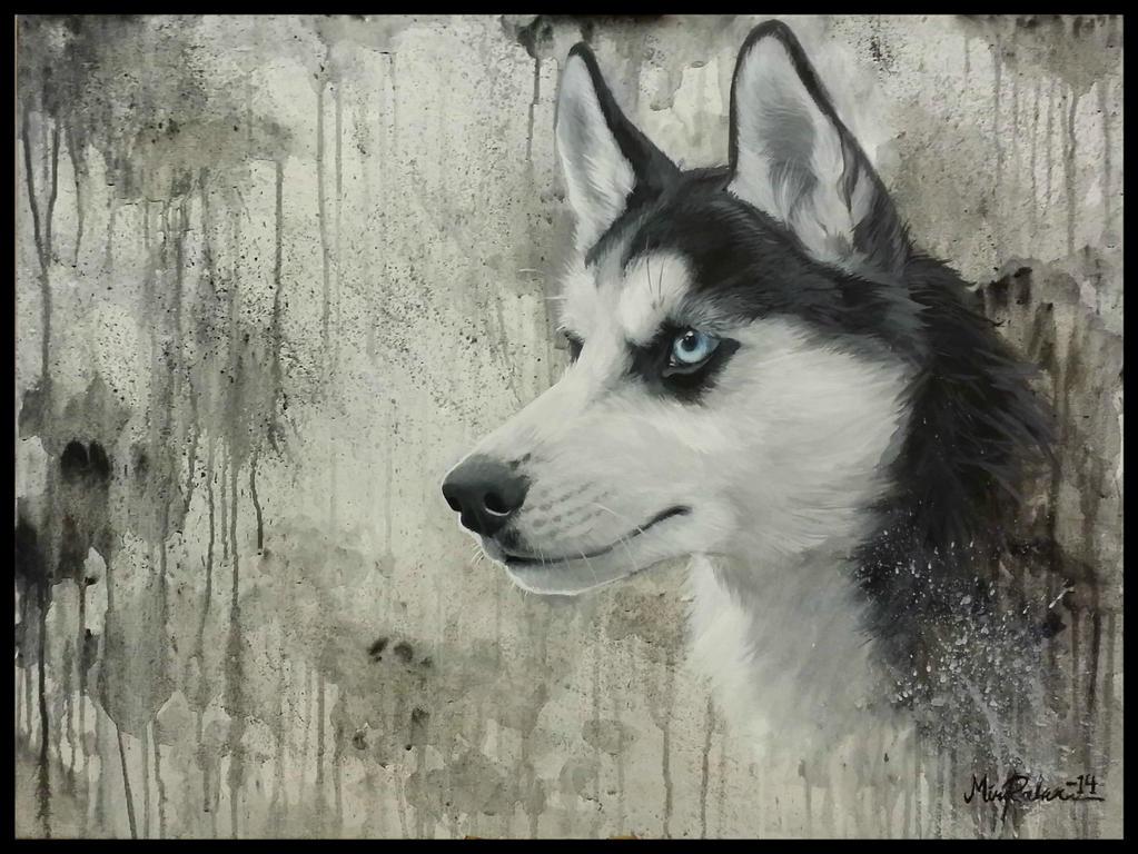 Husky painting by Mirnamiu
