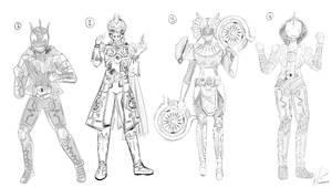 Kamen Rider Barf Sketches #1