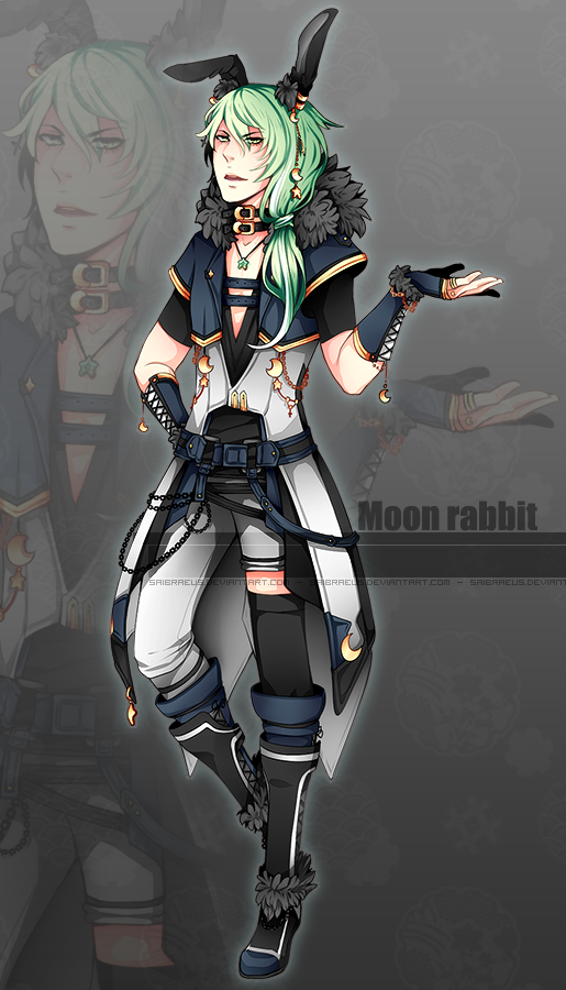 Adoptable ::: Moon Rabbit [Closed] by Saibraeus