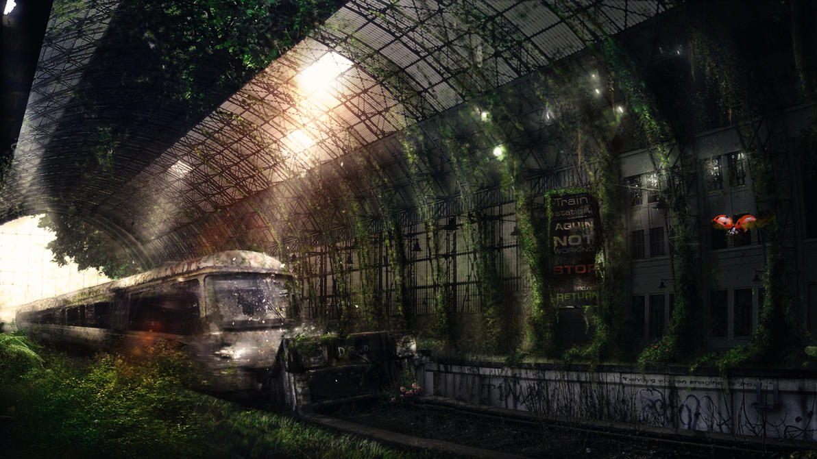 Aquin station by t1na