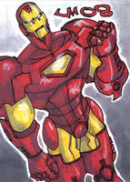 PERSONAL SKETCH CARD Iron Man by jasinmartin