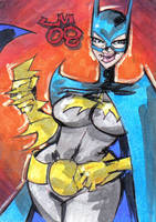 Personal Sketch Card BATGIRL by jasinmartin