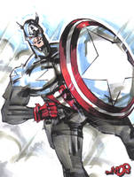 Marker sketch CAPTAIN AMERICA by jasinmartin