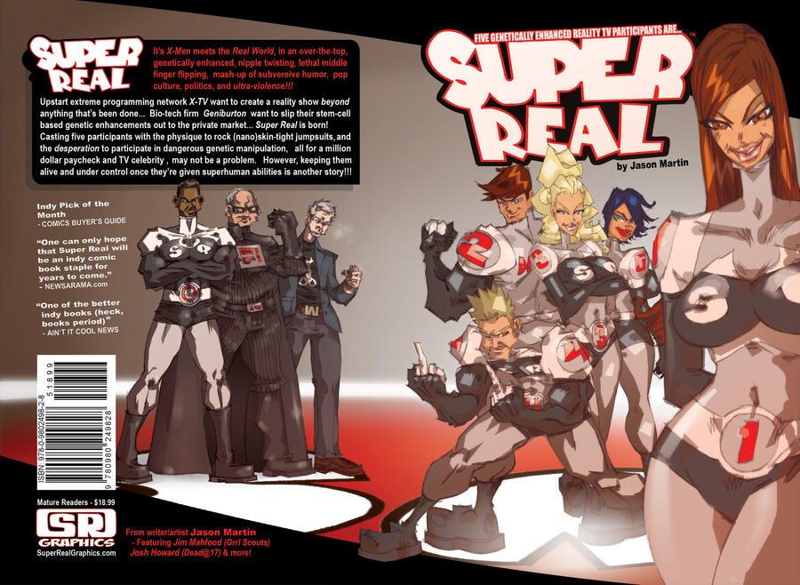 SUPER REAL Graphic Novel by jasinmartin