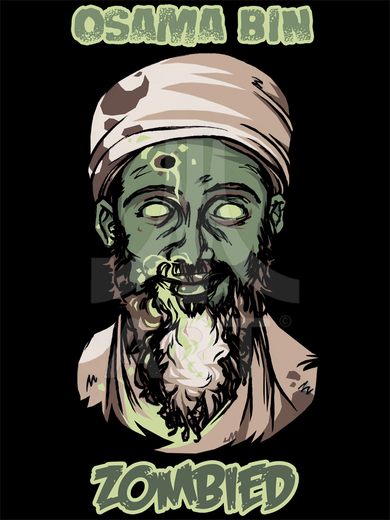 Osama Bin Zombied t-shirt by jasinmartin