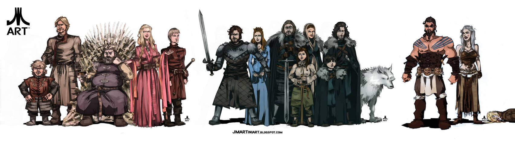 Game of Thrones SEASON ONE CAST by jasinmartin