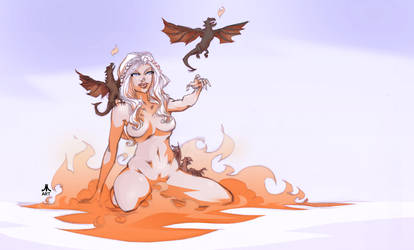 DAENERYS mother of dragons by jasinmartin