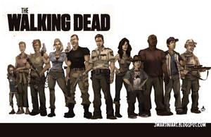 Walking Dead CAST by jasinmartin