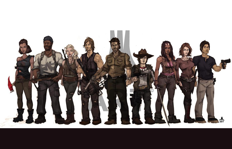 Walking Dead CAST season 4 by jasinmartin