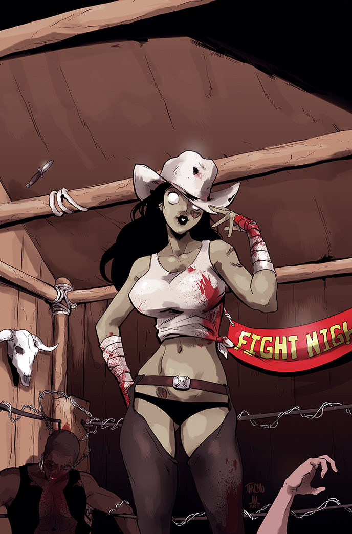 COLORS Zombie Tramp ISSUE 6 cover by jasinmartin