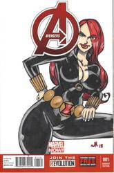 SKETCH COVER Black Widow