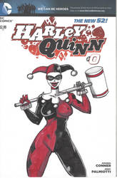 SKETCH COVER Harley Quinn classic