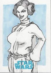 SKETCH CARD Princess Leia AP