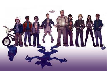 FAN ART: Stranger Things cast