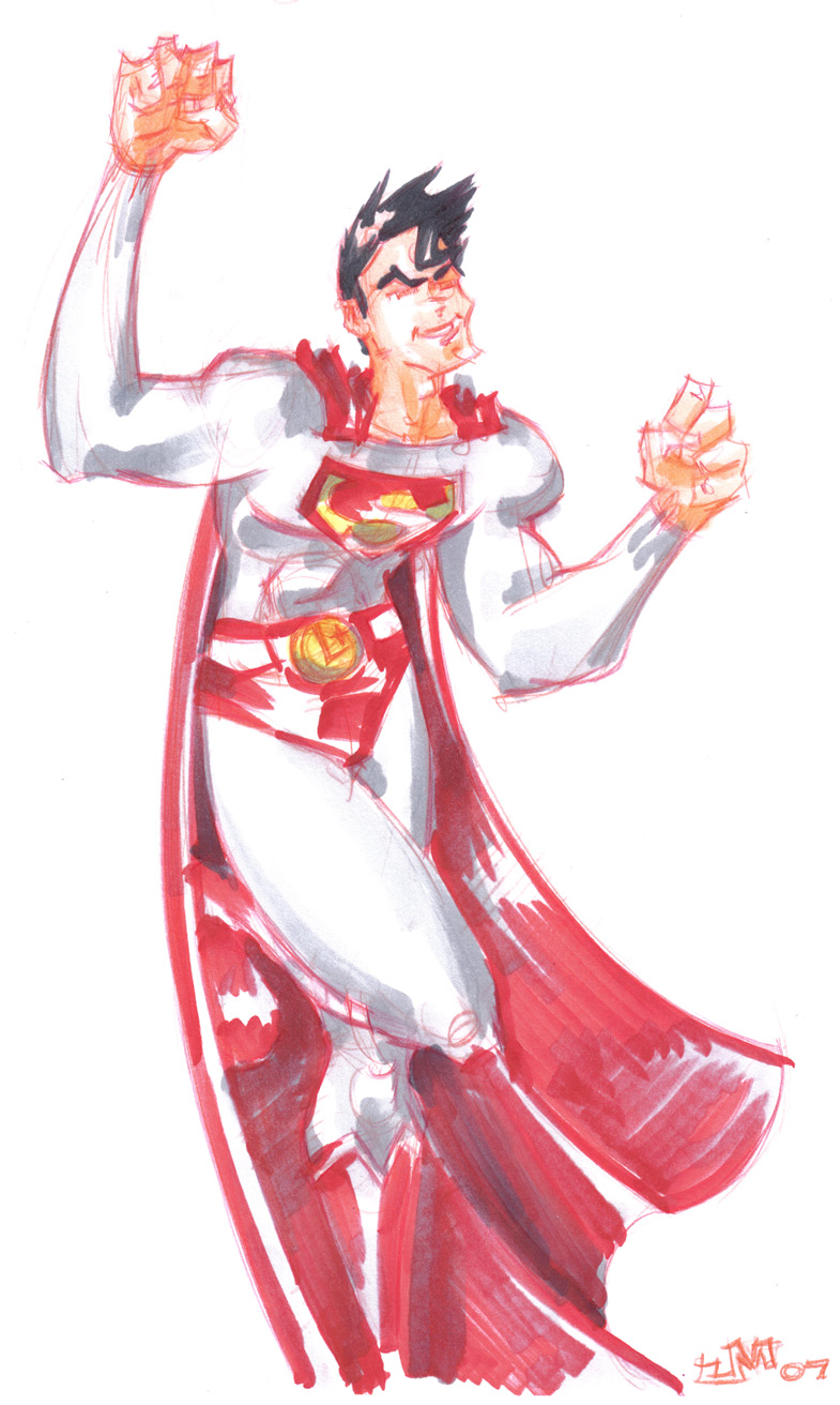 Legion of Superheroes SUPERMAN by jasinmartin