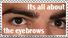 Its all about the eyebrows by cozzypaper