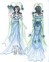 Peacock design for Halloween by Hakuyoku