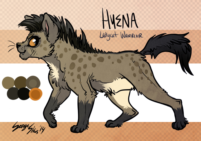 Hyena the Warrior Ladycat by Serge-Stiles