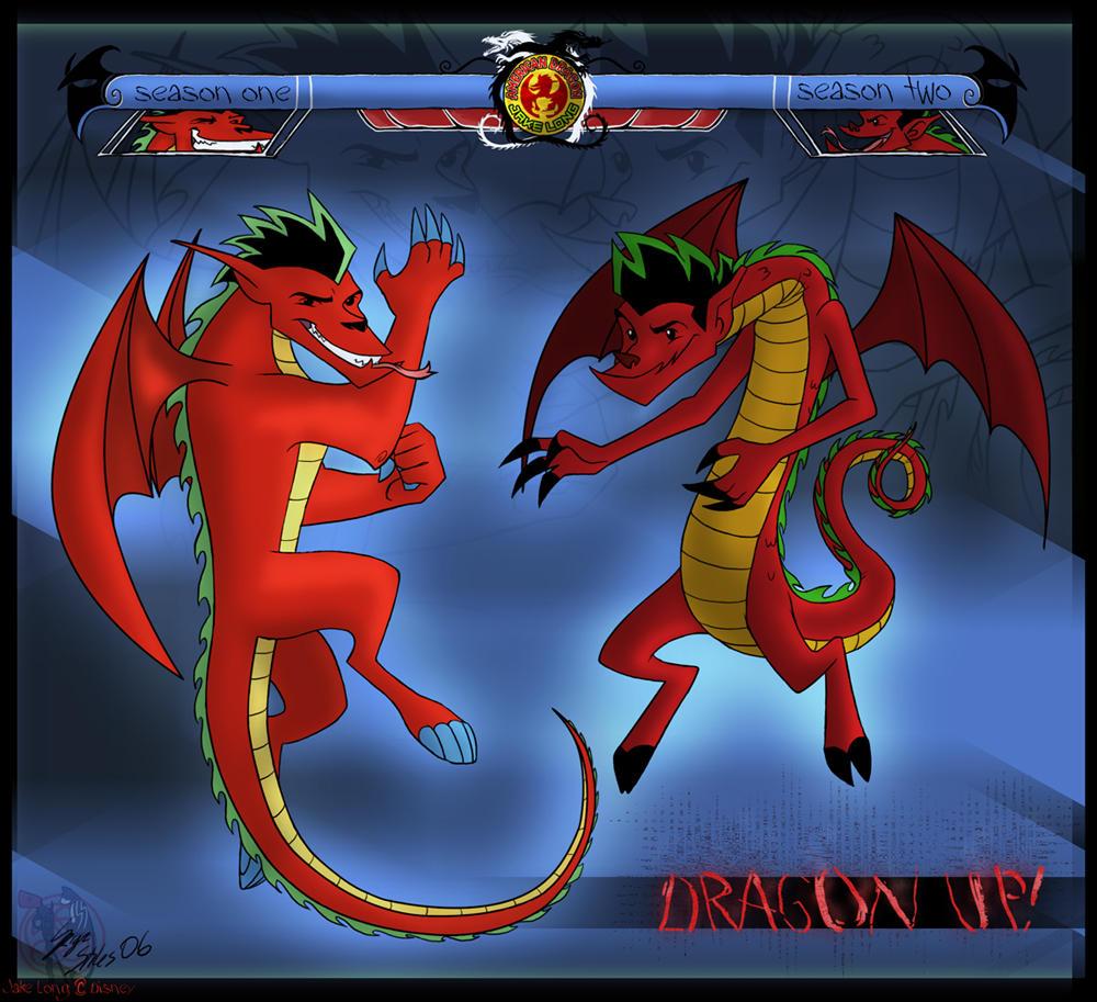Jake Long's Dragon Forms by Serge-Stiles